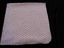 Just One You Pink White Baby Girl Cotton Flannel Receiving Swaddle Blanket