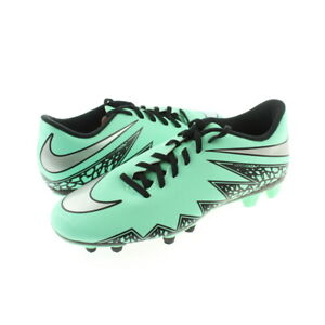 Nike Mens Green Glow HyperVenom Phade II (FG) Soccer Cleats Shoes Size 7 Medium