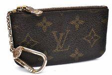 Auth Louis Vuitton Monogram Pochette Cles Coin Case M62650 LV A3491