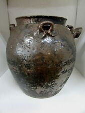 ANTIQUE CHINESE POTTERY URN VESSEL WATER WINE OIL YUAN MING DYNASTY