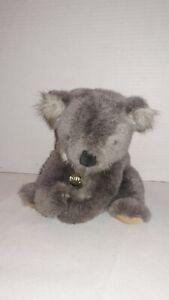 """Vintage 1986 GUND Plush  11"""" Hugging GRAY KOALA BEAR, WITH Swing Tag"""