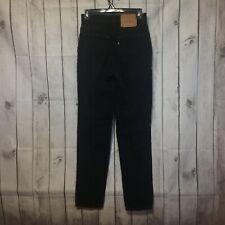 Vintage Levis 512 Mom Jeans Womens 7 Jr M Black High Waist Slim Tapered Leg