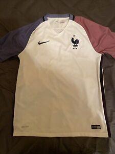 2016 Nike France Large White EURO Away Jersey