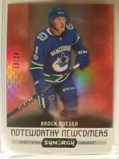 2017-18 UD Synergy Brock Boeser Noteworthy Newcomers RC Red 13/24 CANUCKS