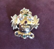 Anhänger Clown 585 Gelbgold Diamanten Rubine Saphir Smaragd Unikat 9 Gr. schwer!