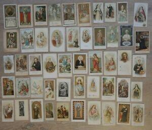 Lot / Konvolut ; 50x HEILIGENBILD , holy cards , santini , saints LUXUSPAPIER