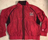 Nebraska Cornhuskers Vintage Logo 7 Windbreaker Jacket Red Men's XL RARE