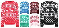Women Ladies Reindeer Snowflake Christmas Jumper Knited Xmas Novelty Sweater Top