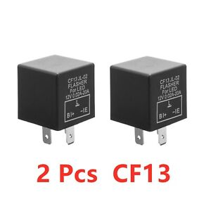 3-Pin Car Flasher Relay Fix LED Light Turn Signal Hyper Flash CF13 CF13JL EP34