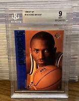 1996 - 1997 SP Kobe Bryant Rookie Card Los Angeles Lakers RC HOF BGS 9 MINT #134