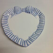 The Holden Group Blue Stripe Ribbon Heart Candy Dish