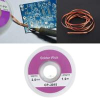 10PCS 5ft 1.0mm Desoldering Braid Solder Remover Sucker Flux Wick Cable Wire