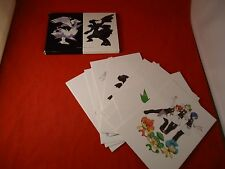 Pokemon Black White Version Game Art Folio Nintendo DS 14/15 Cards (Missing 1)