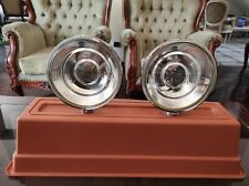 Pair VTG Cibie Iodo Rally Fog Light Bumper 70s 80s Driving Lamps STAINLESS STEEL