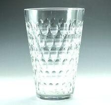 Saint Louis (St. Louis) Cristal France Cut Crystal Vase, Repeating oval design