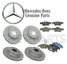 Mercedes Benz W212 E350 2013-14 Front & Rear Brake Rotors & Pads Kit Genuine
