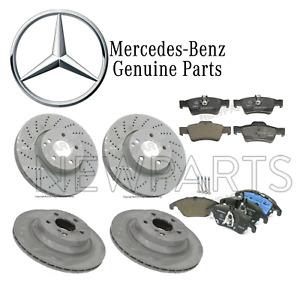 For Mercedes Benz W212 E350 2013-14 Front & Rear Brake Rotors & Pads Kit Genuine