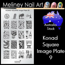 Konad Square Image Plate 9 for Stamping Nail Art Transfer Stencils Holiday Paris