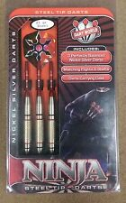 Dart World Ninja 21g Steel Tip Darts Nickel Silver 15863 w/ FREE Shipping