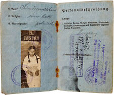 1918 Riga - Armeepass Passport - WWI GERMAN OCCUPATION - 14 Year Old Nanny Girl