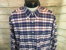 Vintage Tommy Hilfiger Oxford Shirt Box Logo Window Pane LS Mens XL