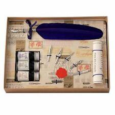 Conjunto de caligrafía, Azul Pluma Pluma 3 Tintas & 6 Nib Set, gran regalo (531BL)