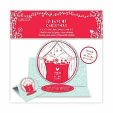 "Papermania 6x6"" Easel Decoupage + Die Cut Card Craft Kit - 12 Days of Christmas"