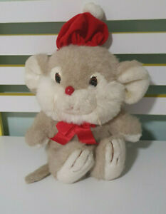 COMMONWEALTH MOUSE PLUSH TOY STUFFED ANIMAL 26CM NOT INCLUDING HAT