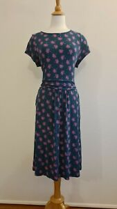 BODEN Women's Printed Jersy Dress, Stretch, Size 18R GUC