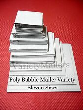 50 Piece Poly Bubble Postal Envelope Padded Mailer Variety ~ 11 Size Assortment
