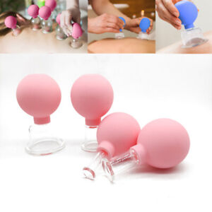 Rubber Cups Vacuum Cupping Glasses Skin Massage Cupping Therapy Tool.