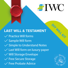 DIY Last Will & Testament Kit - Includes free legal check & free storage