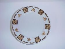 Jackson China Bread & Butter Plates Black & Gold Vintage