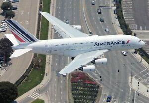 Air France Airbus A380-861 F-HPJA  Air to Air Photograph Postcard