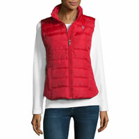 Women's Us Polo Assn Quilted Vest Red, Size: L MSRP $50
