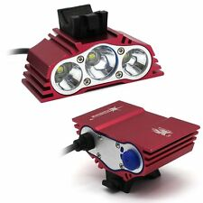 X3 Red 7500 LM 3x CREE XM-L T6 LED Front Bike Bicycle Light Headlight Only Light