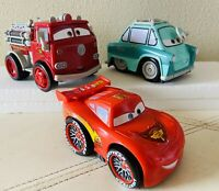Disney Pixar Cars Shake N Go Cars Lot Set Sound & Motion Lightning Professor Red