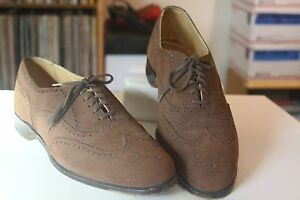 Cole Haan Bench Made Brown Suede Brogue Oxfords Men's Sz 11.5 D Made in England