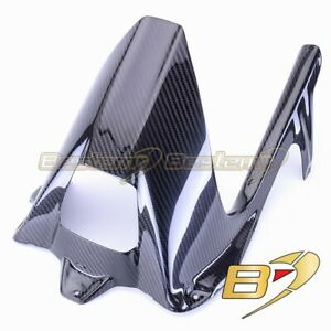 2009-2019 BMW S1000RR Carbon Fiber Rear Hugger Mudguard Chain Guard Twill Weave