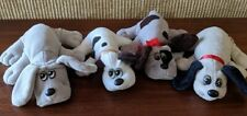 """Tonka Pound Puppy Lot, 4 Small Size Puppies, 7"""" - 9"""", Good Condition, 1980s"""