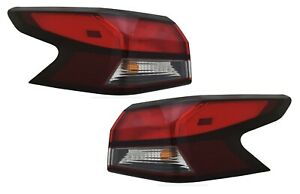 FIT NISSAN VERSA 2020-2021 RIGHT LEFT TAILLIGHTS TAIL LIGHTS REAR LAMPS PAIR