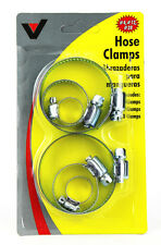 NEW 6 PIECE PLATED STEEL JUBILEE CLIP HOSE CLAMP SET HAND TOOL - 7mm -57mm