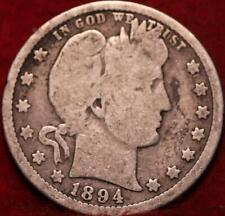 1894-O New Orleans Mint Silver Barber Quarter