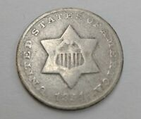 ESTATE FIND 1851 - O THREE CENT SILVER Trime Key Date
