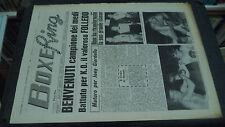 BOXE RING N.39 1965 - BENVENUTI CAMPIONE BATTUTO FOLLEDO