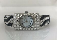 Jimmy Crystal New York Zebra Design Swarovski Black and Clear Watch #WJ196