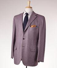 NWT $9745 KITON Lavender Herringbone Cashmere-Vicuna Sport Coat US 44 R (Eu 54)