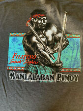 FILIPINO STRENGTH manlalaban Pinoy T-Shirt Sz M Gray grey stick fighter tee T