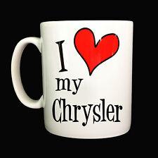 NEW I LOVE HEART MY CHRYSLER GIFT MUG CUP PRESENT CRUISER STRATUS SEBRING CAR