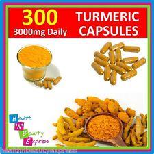 300 TURMERIC CAPSULES 3000mg Daily CURCUMA LONGA TUMERIC CURCUMINOID CURCUMIN